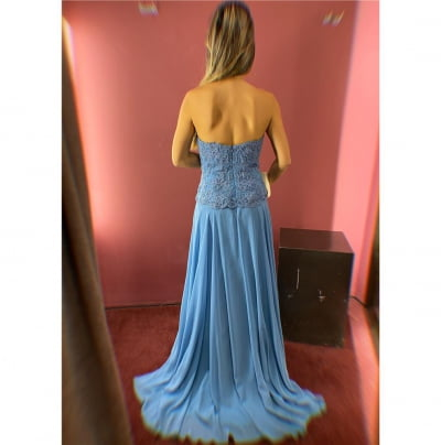 Vestido de Festa Azul Dusk Fluido